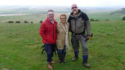 Image for John McCarthy walks with volunteer rangers on the South Downs