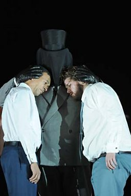 Allan Clayton as Castor and Roderick Williams as Pollux
