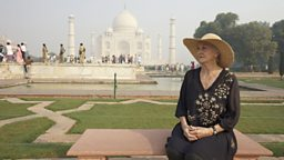 Sheila at the Taj Mahal, India