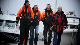 Members of Foyle Search and Rescue on patrol around the Foyle