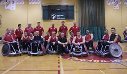 Gareth Mitchell and the Canadian wheelchair rugby team
