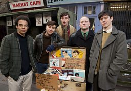 Photo: Del and the Boys Down the Market
