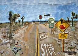 David Hockney - Pearblossom Highway, 11-18 April 1986 #1