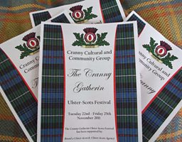 Leaflets promoting the Cranny Gatherin - from 22nd to 25th Nov