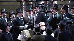 Russell Braun as Lescaut (centre)