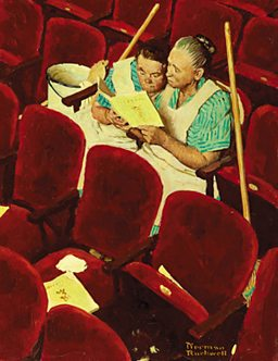 Norman Rockwell, Charwomen in Theater (1946)