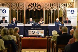 The Any Questions? panel at All Saints Church, Dulverton