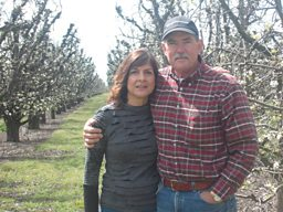 Pear farmers Chuck and Joy Baker