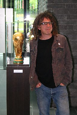 Presenter David Goldblatt inside FIFA's Zurich HQ