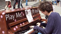 """Play Me I'm Yours"" - the piano playing scheme"