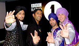 Scott Mills with Infamous Ranj, Adil and Nihal