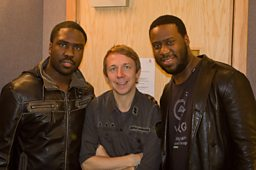 Gilles with Robert Glasper & Derek Hodge!