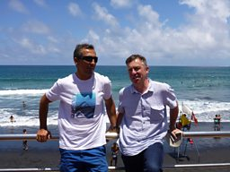 John McCarthy (right) with Sergio Alvarez Krutchkoff in Gran Canaria
