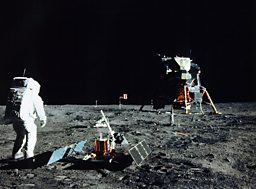Buzz Aldrin sets up a seismometer at the Apollo 11 landing site. Will the next ones be British?