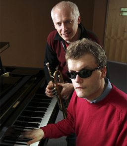 Photo: Marcus Du Sautoy and Derek Paravicini