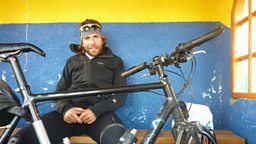 Photo: Mark Beaumont taking a breather in Argentina