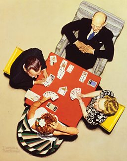 Norman Rockwell, Bridge Game - The Bid (1948)