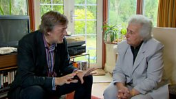 Photo: Stephen Fry and Anita Lasker-Wallfisch