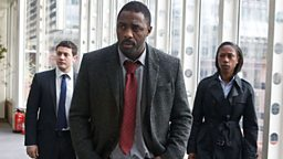 DCI John Luther (Idris Elba), DS Justin Ripley (Warren Brown) and DCI Erin Gray (Nikki Amuka-Bird)