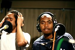 Nas &amp; Damian Marley at BBC Maida Vale Studios