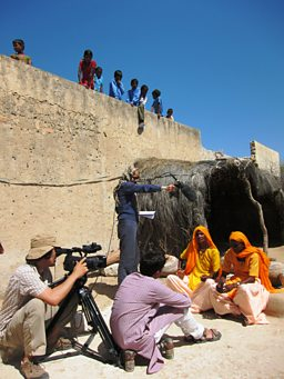 Filming in Rajasthan