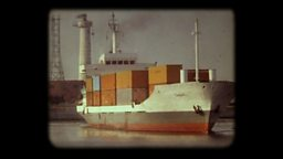 Photo: Container ship