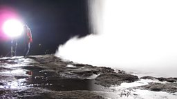 Photo: Filming a Geyser