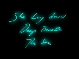 She Lay Down Deep Beneath the Sea by Tracey Emin