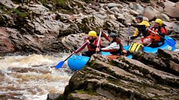 rafting and the Moray Way