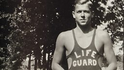 Photo: Ronald Reagan as a young lifeguard (circa 1928)