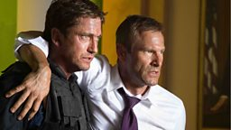 Aaron Eckhart and Gerard Butler  talk about Olympus Has Fallen