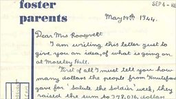 Letter to Eleanor Roosevelt