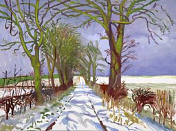 David Hockney - Winter Tunnel with Snow, March, 2006