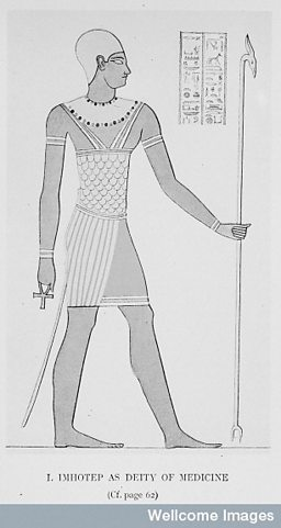 Imhotep, the vizer and physician of King Zoser
