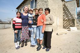 Kate Adie with beneficiaries of Hope and Homes for Children