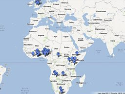 Afrobeats Tracklistings Map