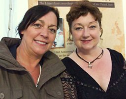 Anne Morrison-Smyth & Moyra Fraser of the band: Bending the Strings