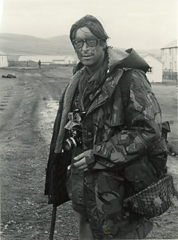 Max Hastings in the Falklands, 1982