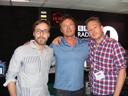 Basement Jaxx swing by the studio !