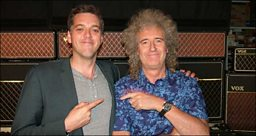 Iain Lee and Brian May