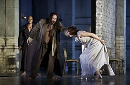 Johan Reuter as Jokanaan & Angela Denoke as Salome (in the background: Duncan Meadows as Naaman)