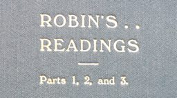 *ROBIN'S READINGS*