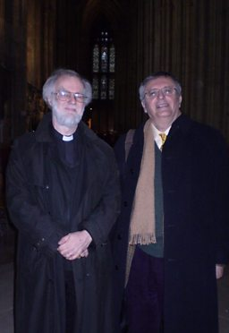 Archbishop of Canterbury Dr Rowan Williams and John Gray