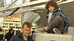Photo: Dad (Hugh Dennis) & Ben (Daniel Roche)