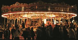 The Carters Steam Fair Gallopers at Night