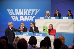 Filling in the __________  on Blankety Blank