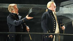 Philip Ens as Claggart and John Mark Ainsley as Captain Vere