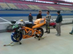 Chip Yates with the electric superbike