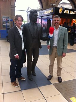 Producer Toby Field and Matthew Parris arrive in Liverpool!