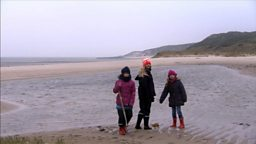 Photo: Helen and friends on the beach at Sylt